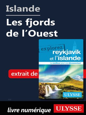 cover image of Islande--Les fjords de l'Ouest
