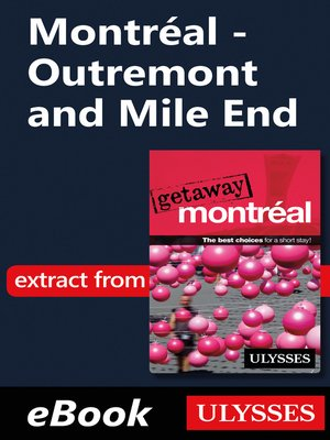 cover image of Montréal--Outremont and Mile End