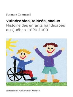 cover image of Vulnérables, tolérés, exclus