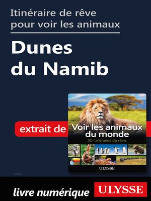 cover image of Itinéraire de rêve pour voir les animaux-- Dunes du Namib