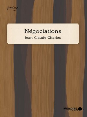 cover image of Négociations