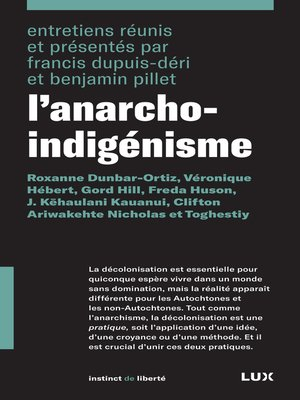 cover image of L'anarcho-indigénisme
