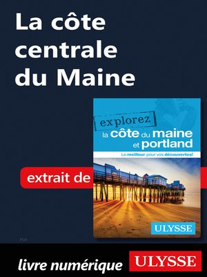cover image of La côte centrale du Maine