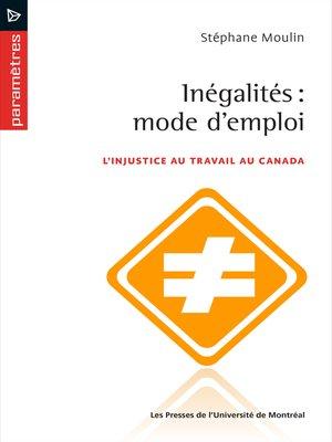 cover image of Inégalités