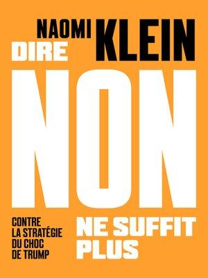 cover image of Dire non ne suffit plus