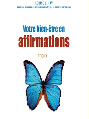 cover image of Votre bien-être en affirmations