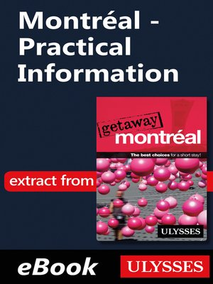 cover image of Montréal--Practical Information