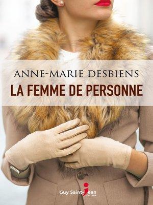 cover image of La femme de personne