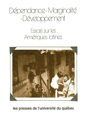 cover image of Dépendance marginalité développement