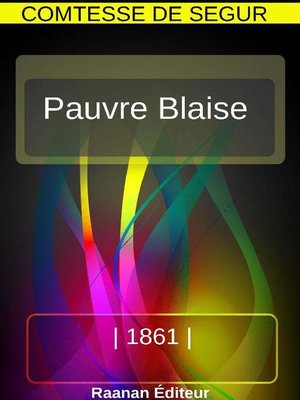 cover image of Pauvre Blaise