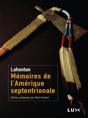 cover image of Mémoires de l'Amérique septentrionale