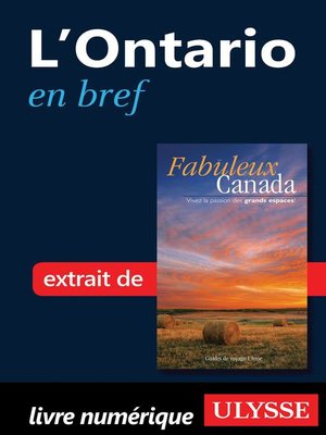 cover image of L'Ontario en bref