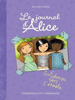 cover image of Confidences sous l'érable