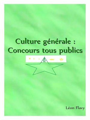 cover image of Culture générale 2018 *****