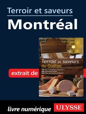 cover image of Terroir et saveurs--Montréal