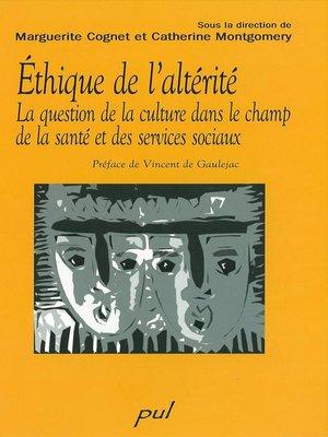 cover image of Ethique de l'altérité