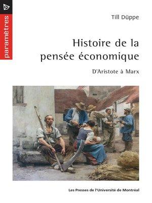 cover image of Histoire de la pensée économique