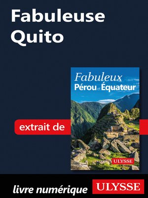 cover image of Fabuleuse Quito
