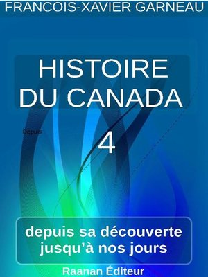 cover image of Histoire du Canada--Tome 4