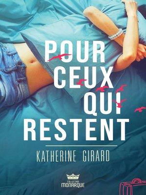cover image of Pour ceux qui restent