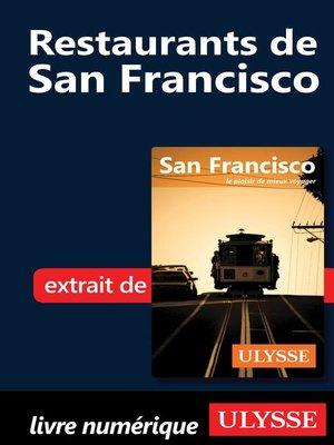 cover image of Restaurants de San Francisco