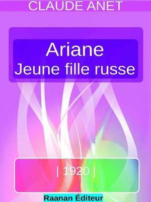 cover image of ARIANE, jeune fille russe