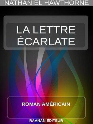 cover image of La Lettre Écarlate