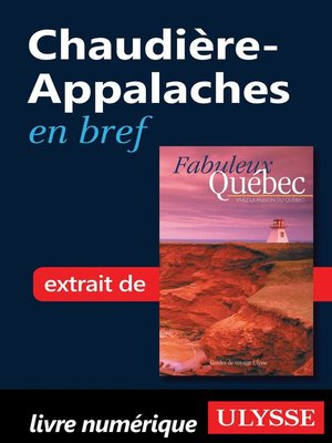 cover image of Chaudière-Appalaches en bref