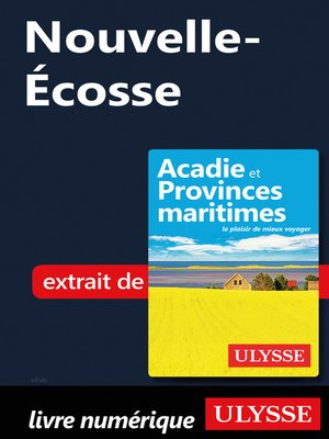 cover image of Nouvelle-Écosse