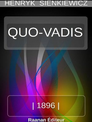 cover image of QUO VADIS