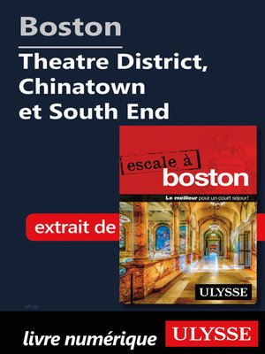 cover image of Boston--Theatre District, Chinatown et South End