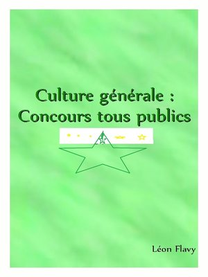 cover image of CULTURE GENERALE AUX CONCOURS 2017