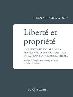 cover image of Liberté et propriété