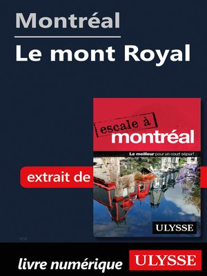 cover image of Montréal--Le mont Royal