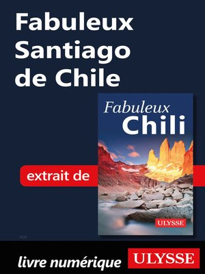 cover image of Fabuleux Santiago de Chile