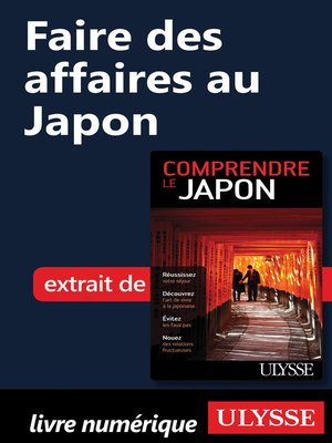 cover image of Faire des affaires au Japon