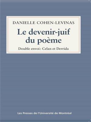 cover image of Le devenir-juif du poème