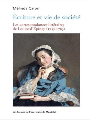 cover image of Écriture et vie de société
