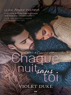 cover image of Chaque nuit sans toi