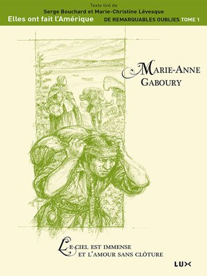 cover image of Marie-Anne Gaboury