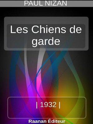 cover image of Les Chiens de garde