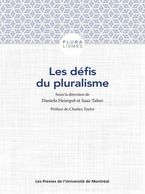 cover image of Les défis du pluralisme