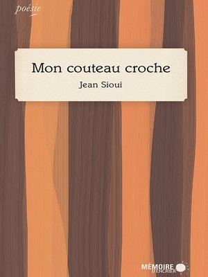 cover image of Mon couteau croche
