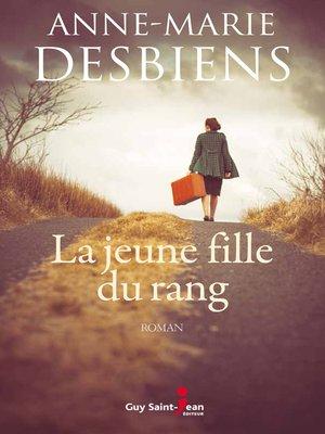 cover image of La jeune fille du rang