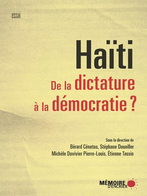 cover image of Haïti. De la dictature à la démocratie?