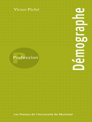 cover image of Profession Démographe
