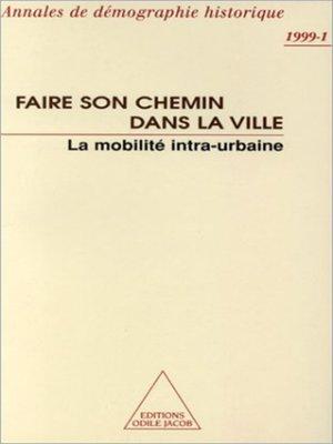 cover image of Faire son chemin dans la ville