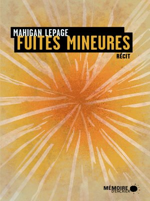 cover image of Fuites mineures