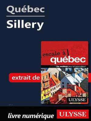 cover image of Québec--Sillery