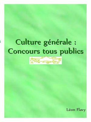 cover image of Culture générale   *****